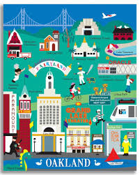 Bart Map Oakland by Oakland California Travel Posters San Francisco And Hawaii Travel