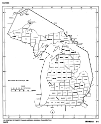 Michigan State Campus Map Michigan State Map With Counties Outline And Location Of Each