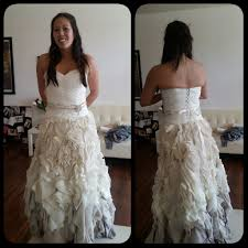 after 6 fittings cutting my dress in half my ombre wedding