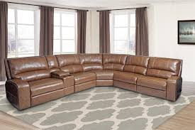 swift 6 piece power reclining sectional with power headrest and
