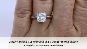 1 Carat Cushion Cut Engagement Ring 2ct Cushion Cut Solitaire Ring Ivette U0027s 2ct Cushion Cut