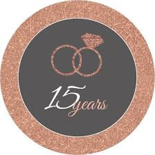 15 wedding anniversary faux glitter wedding anniversary invitation anniversary