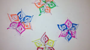 Snowflake Flower - diy craft how to make paper flower 3d flower snowflake flower