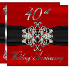 what is 40th wedding anniversary 40th wedding anniversary invitations zazzle