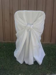 polyester chair covers hemet party rental linens chair covers bows and more
