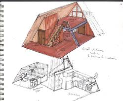 Small A Frame Cabin A Frame Cabin Interior Cut Away By Camodeafie82 On Deviantart