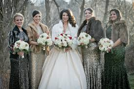fur shawls for bridesmaids sparkly wedding aisle society