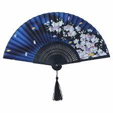 silk fans handmade vintage folding bamboo silk flower pattern