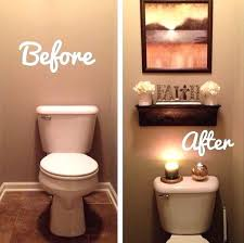 Bathroom Decorating Idea Toilet Decor Pinterest Floating Shelves And Bathroom Update
