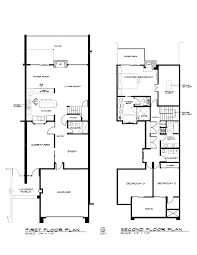 two floor plan plan of two townhouse in los gatos 2008
