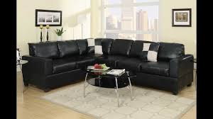 Reversible Sectional Sofa Chaise by 2 Pc Black Leather Like Vinyl Reversible Sectional Sofa With Free
