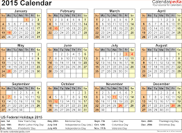 6 2015 yearly calendar template word