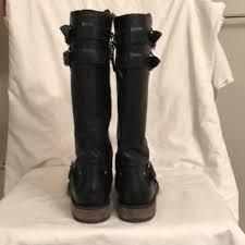 motorcycle booties ugg australia black leather motorcycle biker boots booties size us