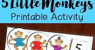 10 Monkeys Jumping On The Bed Five Little Monkeys Jumping On The Bed Printable Activity
