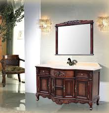 Antique Home Interior Pleasant Vintage Style Bathroom Vanity In Inspirational Home