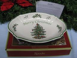 spode merry tree oval serving dish platter tray