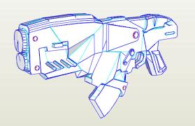 gears of war hammerburst rifle pepakura templates tu build