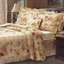 King Quilt Bedding Sets Antique Cotton Floral Quilt Bedding Set