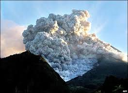 Volcanic Ash from the Eruption of Mount Merapi