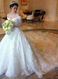 latest off shoulder white ball gown wedding dress popular lace