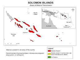 Solomon Islands Map Cdc Malaria Travelers Malaria Information And Prophylaxis