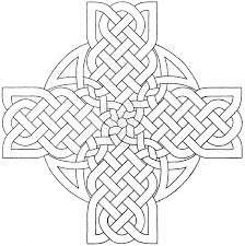 celtic mandala coloring pages celtic cross design 3 by
