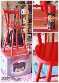 How To Paint Wooden Chairs by Diy Transform An Old Wooden Chair Part 2 A Spoonful Of Sugar