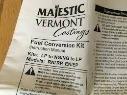 majestic fireplace stove gas conversion kit natural gas to propane
