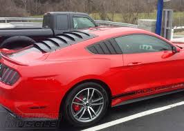 mustang rear louvers s550 mustang louvers explained americanmuscle
