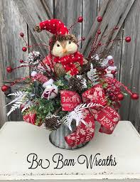 Rustic Christmas Centerpieces - centerpiece babamwreaths