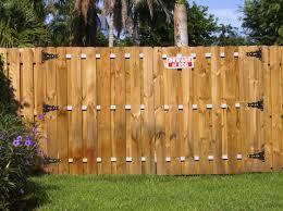 wood gate fence fences