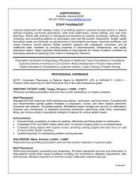 Retail Pharmacist Resume Sample by Pharmacist Resume Free Resume Example And Writing Download