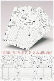 blank recipe cards fun printable recipe templates happy recipe