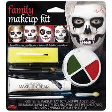 fun world halloween family skeleton 7pc makeup kit white black