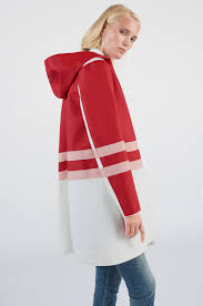 women s stripe coat red multi stutterheim raincoats