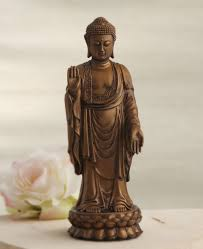 spiritual statues standing buddha statue in bronze color 10 inches
