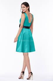 viridian green bridesmaid dress elegant a line thick straps