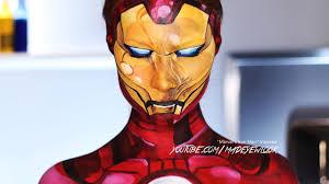 comic iron man makeup tutorial marvel youtube