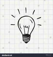 doodle sign up light bulb icon idea symbol sketch in vector doodle