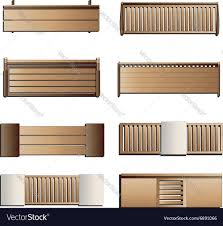 outdoor furniture bench top view set 6 for lands vector image