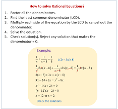 solving rational equations worksheets solutions examples