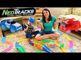 light up car track as seen on tv mindscope twister tracks neo tracks race car flexible track assembly