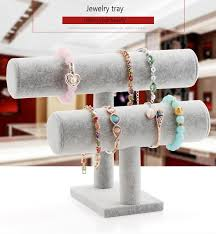 bracelet display images Velvet plush bracelet display stand holder jpg