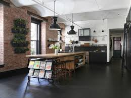 industrial loft industrial loft with exposed brick walls and black wood digsdigs