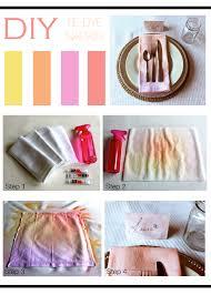 diy tie dye napkin mountain home decor