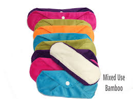 multipack cloth sanitary pads packs of 5 or 10 reusable pads