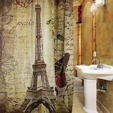 2017 paris eiffel tower waterproof polyester bath shower curtain