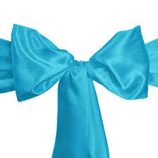 blue chair sashes satin sash caribbean 10 pack weddings