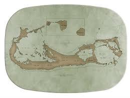personalized melamine platters m1839 antique bermuda map personalized melamine plate platter