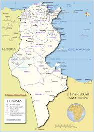 Middle East Map Capitals by Administrative Map Of Tunisia Nations Online Project